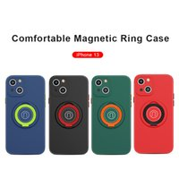 Ring Holder Phone cases For iPhone 13 12 11 Pro Max Xs XR X SE 7 8 plus TPU Magnetic Protective case