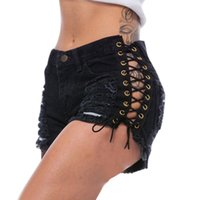 Summer Women Mini Pants Hole Destroyed Ripped High Waist Jeans Denim Shorts Casual Ladies Pantalon Femme Women's