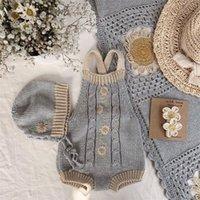 Enkelibb красивая прекрасная девушка осень осень зима вязание ползунки ребёнок мальчики и девочки зимняя одежда радуга ромашка undeyie wid wawa 2609 q2