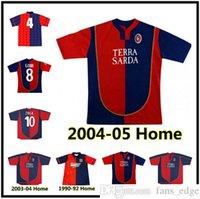 Cagliari Calcio Soccer Jerseys 90/92 03 04 04 Retro Suazo Zola Conti Gobbi Godin Joao Pedro Nainggolan Marin Simeone Sottil Pavoletti Maglie