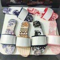 Damen Hausschuhe Slide Designer Luxus Marke Mode Sandalen Florale Stickerei Brief Schuhe Damen Gummi Sandale gestreifte Slipper Stiefel Heatshoes 34-42