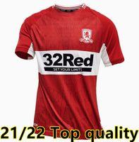 21 22 Middlesbrough Jersey 2021 Ashley Michael Fletcher 11 Flint 24 Asa 26 Assombalonga 9 Home Away Futebol Camisas