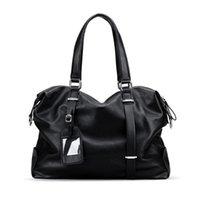 Duffel Bags Men Travel Shoulder Bag Fashion PU Big Handbag Folding Trip Large Luggage Duffle Business B170