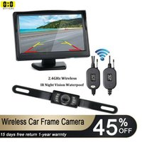 Car Rear View Cameras& Parking Sensors 5Inches Wireless Monitor With Plate Frame Reverse Camera Backup Waterproof