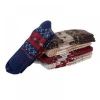 Erkek Çorap Sevimli Noel Geyik Tasarım Rahat Örgü Yün Erkek Kadın Sıcak Kalınlaşmak Kaşmir Kış Kar Noel1 3MJP