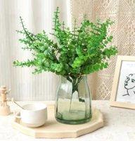 Artificial aquatic Flower Simulated green plant Decorative Flowers & Wreaths Seven fork Eucalyptus plastic arrangement