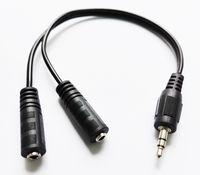"""오디오 케이블, 1/8 """"3.5mm 스테레오 남성 듀얼 3.5 여성 플러그 헤드폰 미니 잭 스플리터 Y 어댑터 커넥터 케이블 / 10pcs"""