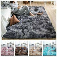 Carpets Plush Soft Carpet Faux Fur Area Rug Non-slip Floor Mats Different Sizes For Living Room Bedroom Home Decoration Supplies