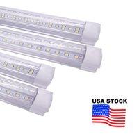 LED Tube T8 8 Ft 8Ft High Lumen Light V Shape Integrate Double SideWarehouse Factory Lighting Cooler Door Tubes Freezer Shop Lamp USALIGHT