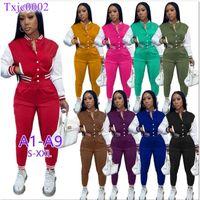 Женщины Scestsuits Двухструктурные набор дизайнер зимний бейсбол униформа куртки для спортивных штангой наряды убовые толщины бегуны брюки варьизм костюмы 18 стилей