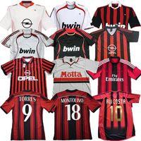 88 07 90 00 03 04 Retro Gullit Soccer Jerseys 1990 2000 1962 1963 2007 2000 2003 2003 2004 AC Milan 1988 96 97 van Basten Kaka Inzaghiトップタイの品質フットボールTシャツ男性