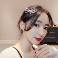 W27b Korean East Gate Hairpin Kopfschmuck Langusif French Temperament Ein Wort Haarklammern Rot Vielseitige Bogen Rand Butterfly Net Headwear Barret
