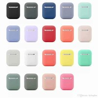 699621773 Pretty gift 2 7Pcs Set Silicone Cases Airpods 2nd Protective Earphone Cover Case for Apple airpods2 Shockproof accessories