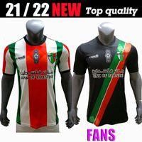 Top Quality 2021-2022 Palestine Jersey Football Home Black White Numéro personnalisé Numéro Palestine Shirt de football Palestine