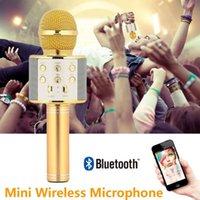 Cewaal Mini Bluetooth Kablosuz Çalar Mikrofon Profesyonel Kondenser Karaoke Kayıt Stüdyosu Mikrofonlar