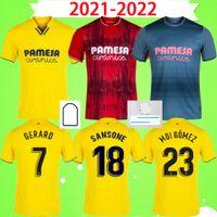 2021 2022 Villarreal Jerseys Campeonato 2020 Home Away Terceiro Parejo Moreno Bacca 20 21 22 Camisa de Futebol Paco Alcacer Pino Trigueros Camiseta de Futbol S-2XL