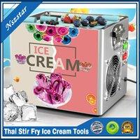 Nouveau Thai Stir Fry Ice Cream Outils Toule Machine Cuisine Electric Petit Yogourt Fried Yaourt Portable Mini Kit