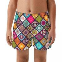 Men's Shorts Flower Boy's Brand Swimming Briefs Low Waist Swimwear Drop With Push-up Pad Trunks Boxers Summer Kid's Swim