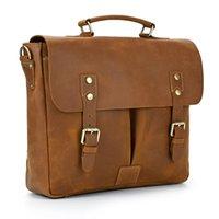 Sbirds Design Leather Briefcase Shoulder Bag A4 Genuine Messenger Real Cowskin Men Dalily Commuter Briefcases