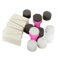 Nail Art Kits 1 Set 15pcs Sponge Stamp Stamper Shade Modelo de Transferência Polonês Manicure Ferramenta