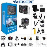 2021 NOUVEAU EKEN H6S Plus Caméra d'action Ultra HD avec Ambarella A12 Chip 4K 14MP Eis 30m Caméscope Sports étanche 170 Lens