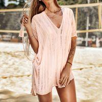Meihuida Women Looes Beach Dress Knitted Hollow Swimwear Pareo Scarf Cover Up Top Ladies Summer Wrap Kaftan Sarong Women's