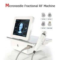 Estúdio de beleza 0.5mm-3mm profundidade RF rosto de contorno estrias remoção escarlate vertical vertical fracionário miconeedle máquina