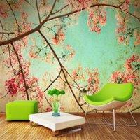Sfondi Personalizzato 3D Effetto Modern Fashion Moda PO da parete Soggiorno Desktop Desktop Murale European Romantic Flower Wallpaper