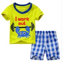 2018 Baby Boy Clothes Suits Summer Children T-Shirts Shorts Pant 2-Piece Clothing Set Beach Kids Outfits Sport Suit 2 3 4 5 6 7Y 1951 Z2