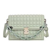 Evening Bags Trendy Women Fashion All-match Chain Shoulder Bag Causal Purses And Handbags Simple Messenger PU Mini Square