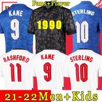 en Gland 축구 저지 2021 2022 Kane Sterling Rashford Sancho 괴상한 마운트 Fodenson Maguire 20 22 National Football Shirt Men + Kids Kit 세트 유니폼