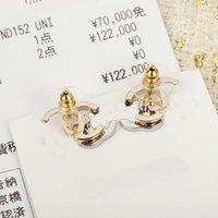 2021 Mode-Stil Top-Qualität-Ohrstecker mit Diamant in zwei Farben überplattiert für Frauen Hochzeit Schmuck Geschenk Have Stempel Have Box PS3278