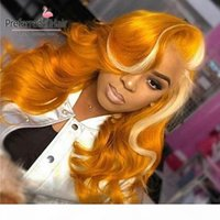 Parrucca preferita arancione rosa parrucca piena pizzo parrucca in pizzo brasiliano remy parrucche anteriori pizzo precipitanti parrucche per capelli umani viola per le donne