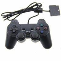 بلاي ستيشن 2 سلكي Joypad Juysticks تحكم الألعاب ل PS2 Console Gamepad Double Shock by DHL