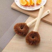 Natürliche Kokosnussbraun-Reinigungsbürsten Nicht-Stock-Öl-lange Griff-Pot-Pinsel können Hänge des Haushalts-Küchenwerkzeugs OWF6302