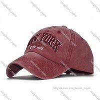 Ozyc kum yıkanmış 100% pamuk beyzbol şapkası şapka kadın erkekler için vintage baba şapkalar yeni York Nakış mektubu açık spor kapaklar