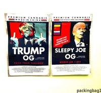 3,5 g Trump Sleepy Joe Mylar Bags Biden Flower Edibles Borsa da imballaggio con cerniera stand vuoto