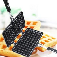 Baking Moulds Breakfast Iron Non Stick Puff Double Side Heating Waffle Maker Kitchen Supplies Die-Cast Aluminium Bubble Time Saving Easy Cle