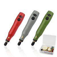 20 세트 3 속도 미니 그라인더 세트 USB 충전 전기 드릴 조각 펜 회전 도구 키트 세련된 조각 용