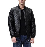 Mens Leather Jacket Fall Winter Biker Bomber Male Coat Thin Men PU Warm Cool Coats Clothing