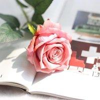 Yapay Gül Çiçek Düğün Parti Masa Ev Dekorasyon Aksesuarları için Tek Büyük Güller Buket Gerçek Dokunmatik Ipek NHE5800