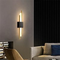 Wall Lamp OUFULA Nordic BrassWall LampModern Sconces Simple Design LED Light Indoor For Home Decoration