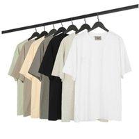 Essentials camiseta Estilo de moda cor sólida homens dos homens dos homens polos jeans + legging Matching mulheres roupas manga curta t-shirt_good