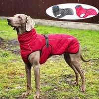 Dog Outdoor Jacket Waterproof Reflective Pet Coat Vest Winter Warm Cotton Dogs Clothing for Large Middle Dogs Labrador