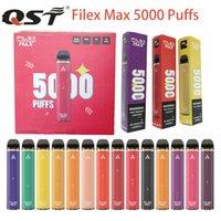 Vape Descartilável 5000 Puff FileX Max Barras Cigarro Eletrônico Cabelo 12ml Capacidade PODs Prefalcados 1100mAh Chargable Bateria Kit Bang XXL Duo Air Bar Diamante