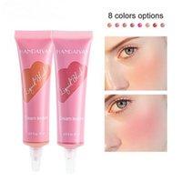 Handaiyan cream blush color bloom liquid blushes devoted matte sparkle Moisturizing Contour Brightening Revealing Complexion Natural Soft Tube Makeup