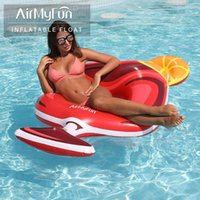 AirMyFun Inflatable Wine Glass Giant Pool Float, Swim Ring Float Rafts For Adults, Water Foam Inner Tube Life Vest & Buoy