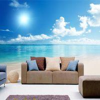 배경 화면 현대 간단한 푸른 하늘 바다 해변 자연 벽지 침실 거실 TV 배경 벽 벽화 홈 장식 덮개