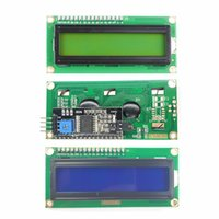 Sensors1PC LCD1602A LCD Screen Module 16x2 Character LCD Display LCD 1602 Blue Green PCF8574T PCF8574 IIC I2C Interface 5V for Arduino