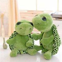 20 سنتيمتر حيوانات محشوة سوبر الأخضر عيون كبيرة السلحفاة السلاحف الحيوان الاطفال الطفل عيد الميلاد لعبة هدية بالجملة